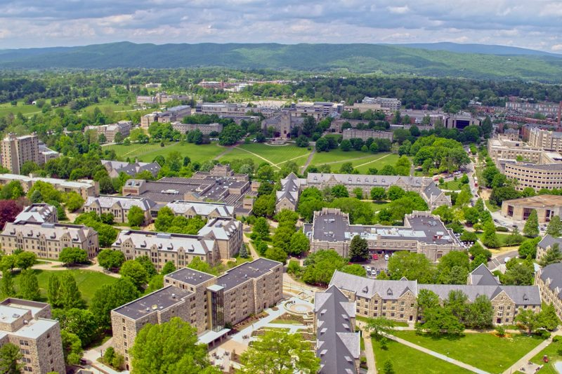 Aerial view of Virginia Tech's campus